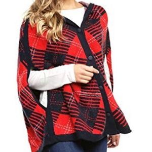 Tommy Hilfiger Helena Hooded Sweater Cape Poncho